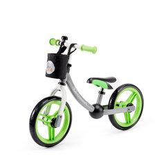 Balansa velosipēds ar piederumiem Kinderkraft 2Way Next, zaļš/pelēks