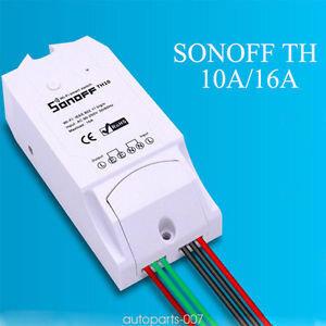 Sonoff TH10 viedais slēdzis ar temperatūras un mitruma kontroli cena