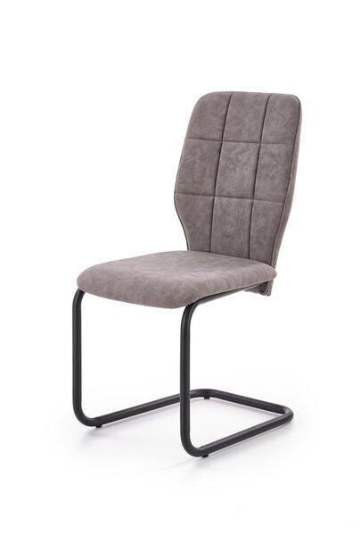 Krēsls K339, pelēks/melns