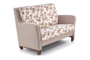Dīvāns London, rozā/balts