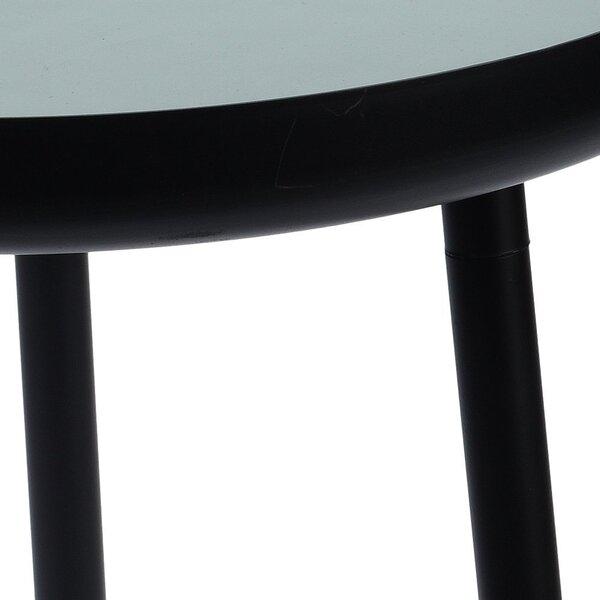 Kafijas galdiņš Cilian 37, melns/gaiši zaļš lētāk