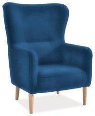 Klubkrēsls Relax Velvet, zils