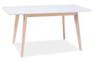 Galds Combo II, 80x120 cm, baltas/ozola krāsas