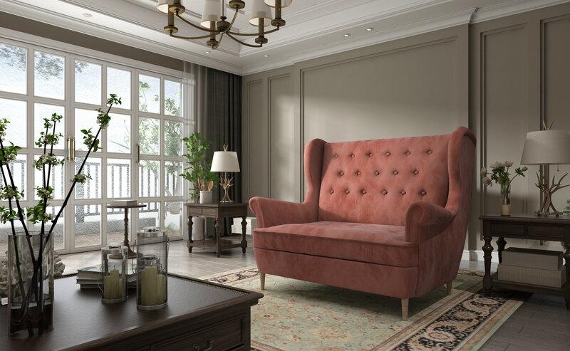 Dīvāns Aros, rozā