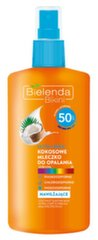 Maigi aizsargājošs sauļošanās pieniņš ar kokosriekstu Bielenda SPF50 150 ml