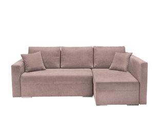 Universāls stūra dīvāns Kris II Lux, rozā cena un informācija | Stūra dīvāni | 220.lv