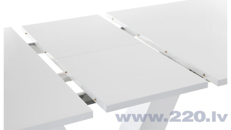 Paplašināms galds Allen 140, balts