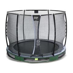 Batuts Exit Elegant Premium ar aizsargtīklu Deluxe, diametrs 305 cm, zaļš