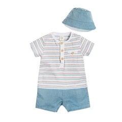 Cool Club комплект: комбинезон-песочник с короткими рукавами и панамка для мальчиков, CNB1805617-00