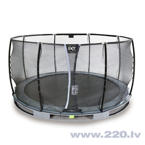 Batuts Exit Elegant Premium ar aizsargtīklu Deluxe, diametrs 427 cm, pelēks cena