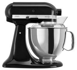 KitchenAid Artisan Elegance mikseris 4,8L 5KSM175PSEOB (melns) cena un informācija | Virtuves kombaini | 220.lv