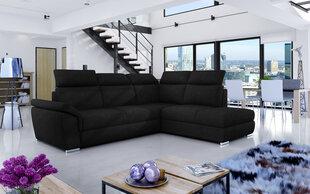 Mīksts stūra dīvāns Loreto, melns