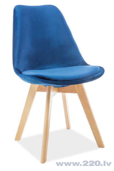 4-u krēslu komplekts Dior Velvet, zils