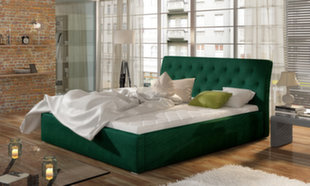 Gulta Milano MD, 160x200 cm, zaļa