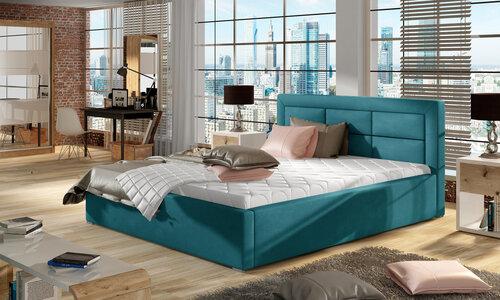 Кровать Rosano MD, 200x200 см, светло-синяя