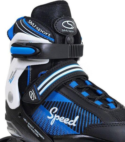 Regulējama izmēra skrituļslidas SMJ Sport 090A, zilas lētāk