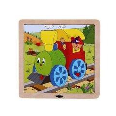 Koka puzle Lokomotīve Woody, 93017, 4 d.