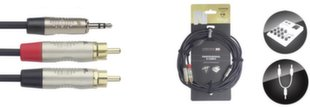 JACK 3,5 stereo 2xRCA, 6 м