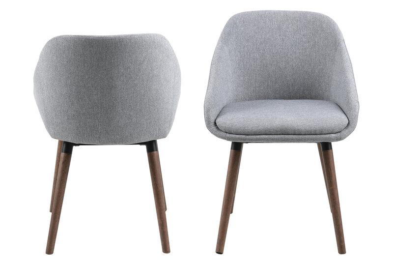 2 krēslu komplekts Actona Nils, pelēks cena