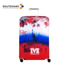 Kofera pārsegs Routemark SP240 Moscow, zils / sarkans