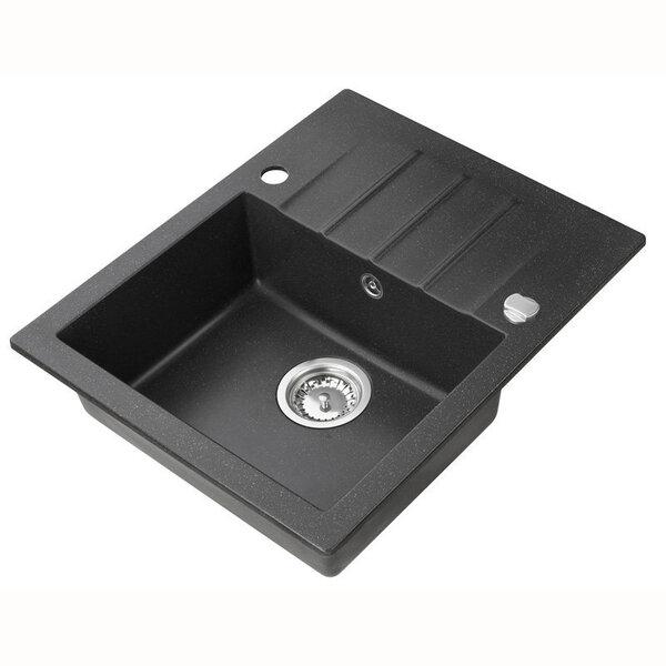 Mākslīgā granīta virtuves izlietne ar maisītāju Axis Mojito 20, melna