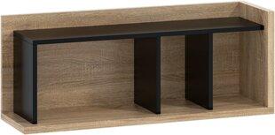 Sienas plaukts Meblocross Box 04, gaiši ozola/melnas krāsas cena un informācija | Plaukti | 220.lv
