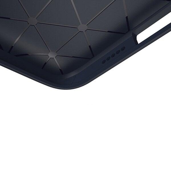 Carbon Case Flexible Cover TPU Case for Samsung Galaxy A6 2018 A600 black