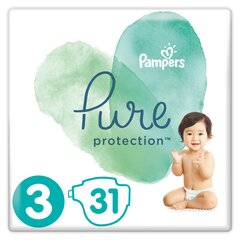Подгузники PAMPERS PURE, Carry Pack размер 3, 31 шт.