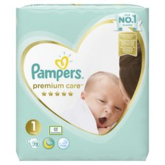 Подгузники PAMPERS Premium Care,Value Pack размер 1, 78 шт. цена и информация | Для ухода за младенцем | 220.lv