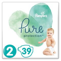 Подгузники PAMPERS PURE, Carry Pack размер 2, 39 шт.
