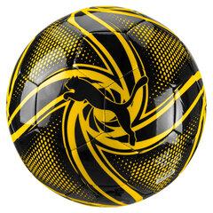 Futbola bumba BVB Future Flare Fan Ball Puma Black-Cyb, 5 izmērs
