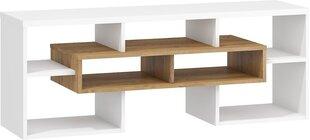 TV galdiņš Meblocross Rio, tumša ozolkoka/balta krāsā cena un informācija | TV galdiņi | 220.lv