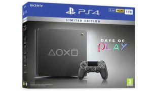Sony PlayStation 4 (PS4) Slim, 1TB, Days of Play Limited Edition