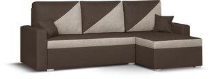 Universāls, mīkstais stūra dīvāns Bellezza Asto2, tumši brūns/gaiši pelēks cena un informācija | Stūra dīvāni | 220.lv