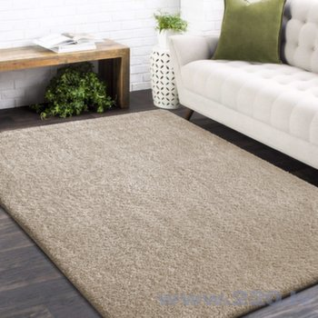 Neslīdošs paklājs Shaggy smilšu krāsas, 200x290cm, 20 mm, polipropilēns