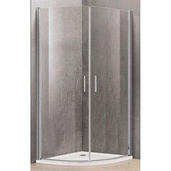 Dušas kabīne P2222 90x90 pelēka bez paliktņa