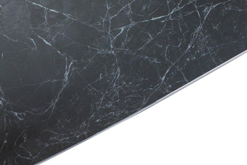 Paplašināms galds Cassino II Ceramic, melns/balts atsauksme