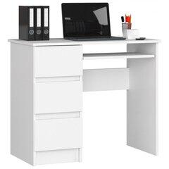 Письменный стол NORE A6, левый, белый цена и информация | Письменный стол NORE A6, левый, белый | 220.lv