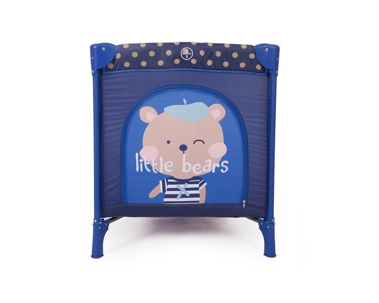 Divu līmeņu ceļojumu gultiņa Kikkaboo Pyjama Party Dark Blue Bear