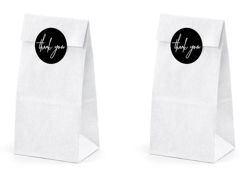 Uzkodu maisiņi White 8x18x6 cm (1 kaste / 50 iepakojumi) (1 iepakojums / 6 gab.)