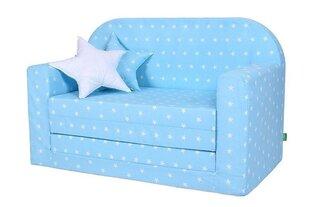Izvelkamais bērnu dīvāns Lulando, balts/zils