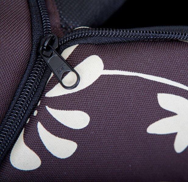 Gultiņa-būda Hobbydog R3 ziedi, 52x46x53 cm, brūna
