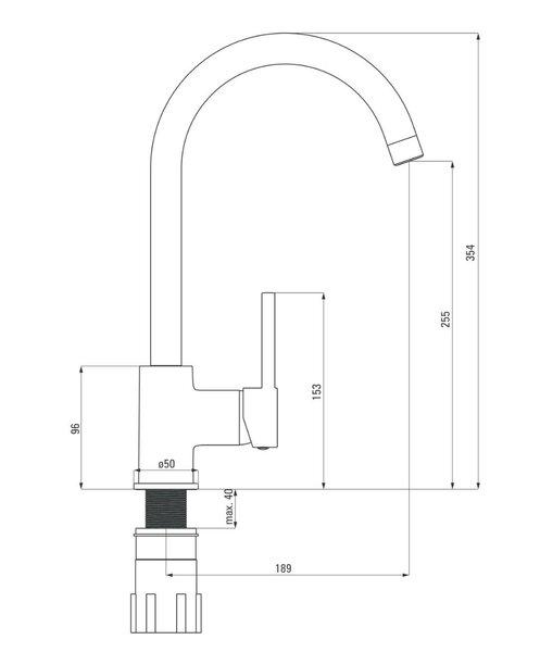 Virtuves maisītājs Deante Aster BCA_062M