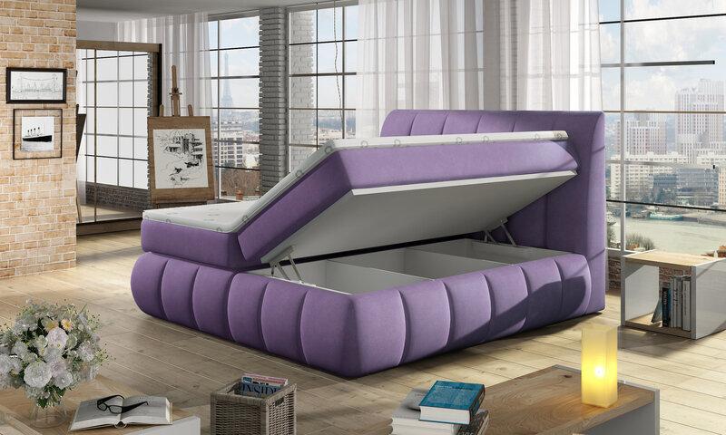 Кровать Vincenzo, 140x200 см, зеленая