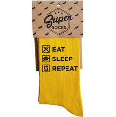 "Zeķes ""Eat. Sleep. Repeat"""