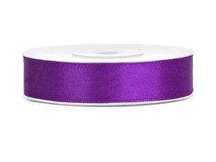 Satīna lente, violeta, 12 mm / 25 m, 1 gab. / 25 m cena un informācija | Dāvanu saiņošanas materiāli | 220.lv