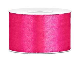 Satīna lente, tumši rozā, 38 mm/25 m, 1 gab./25 m