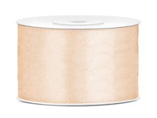 Satīna lente, krēmkrāsas, 38 mm/25 m, 1 gab./25 m