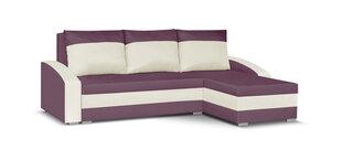 Universāls stūra dīvāns Bellezza King, violets/balts