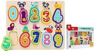 Top Bright koka puzle ar skaitļiem Dzīvnieki